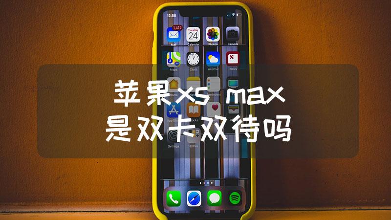 苹果xs max是双卡双待吗