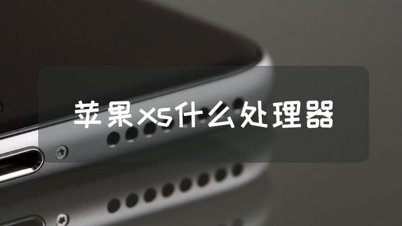 苹果xs什么处理器