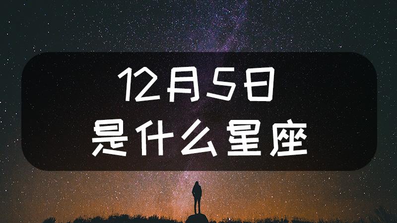 12月5日是什么星座什么性格