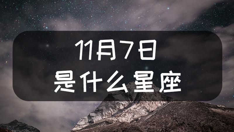 11月7日是什么星座什么性格