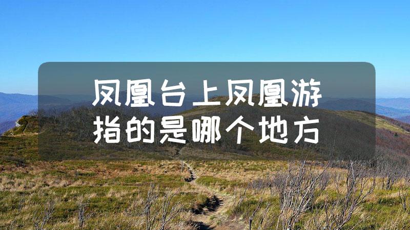 凤凰台上凤凰游指的是哪个地方