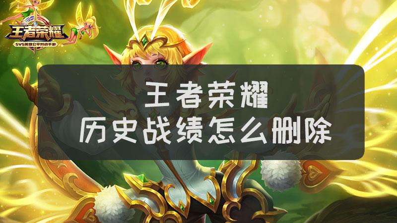 王者荣耀历史战绩怎么删除